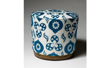 Ottoman in blue susani