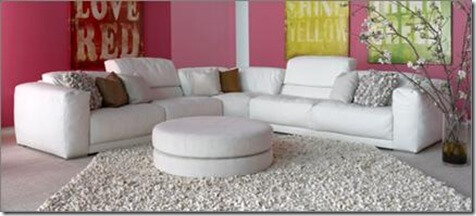 Picture of Malibu leather sectional.