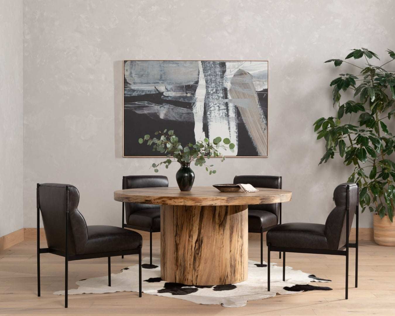 hudson-round-dining-table-gray-color-trend-with-wood-tones
