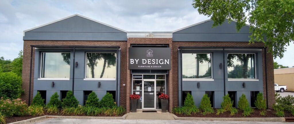 BY DESIGN furniture + interior design store exterior