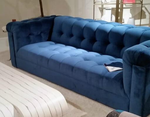 Blue tufted Sofa