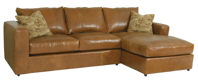 Milford leather sectional_Modern Casual