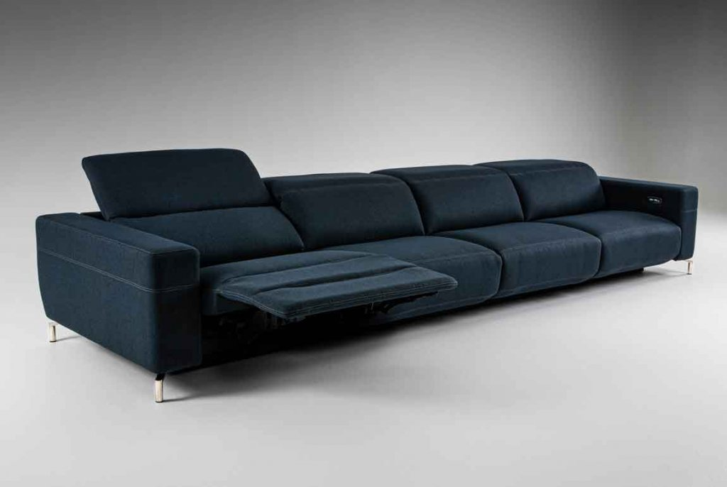 Monza four seat sofa. Componentized, custom motion furniture. High-end style from our Style-in-Motion collection.