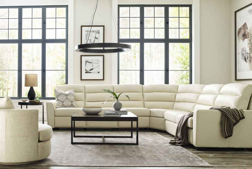 Napa sectional. Hi-style, custom motion furniture. American transitional style and comfort.