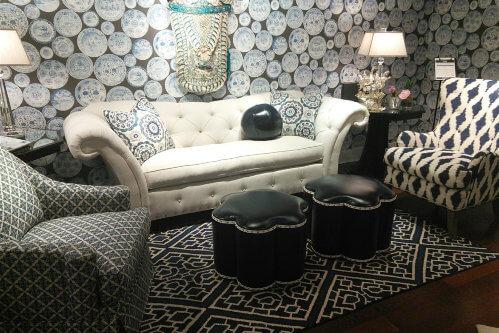 Norwalk furniture at 2014 High Point market in Glam Trend