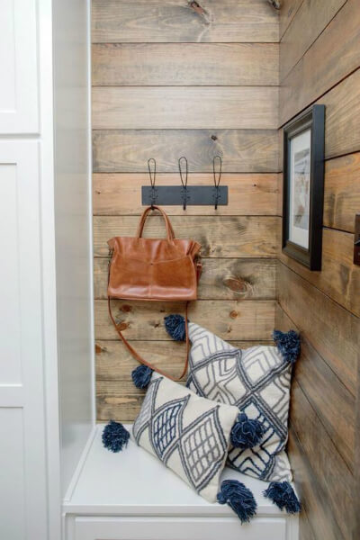 Rustic shiplap entry point
