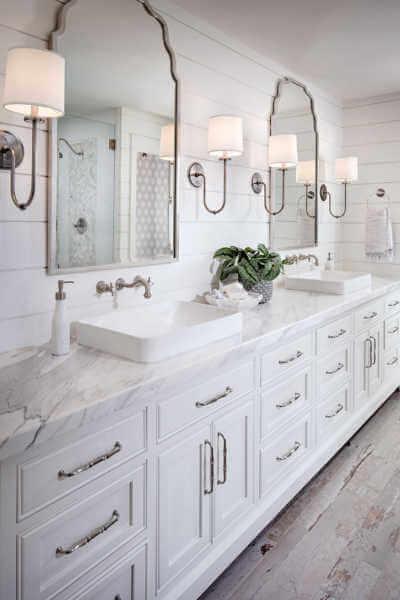 Shiplap traditional bathroom