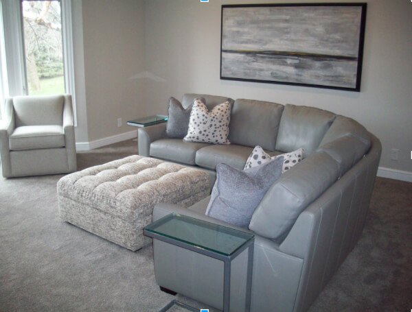 Kaden sectional in client's home