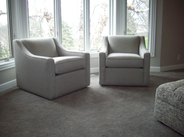 Blake swivel chairs in client's home