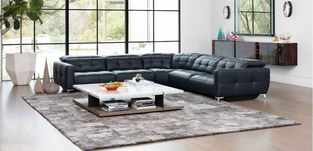 Verona Sectional high-style, custom motion furniture. Euro-contemporary design style. Italian inspired.