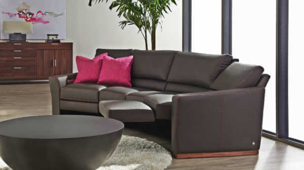 bryant leather wedge sectional