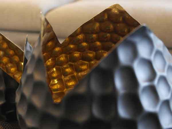 Black Bud Vase/Gold Interior by Design Des Moines