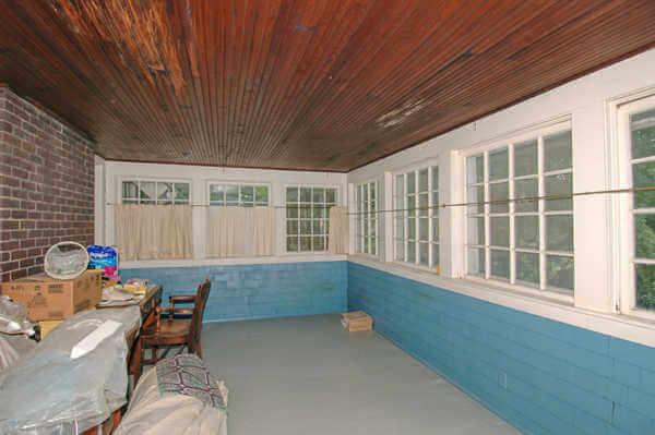 Sleeping porch off master bedroom
