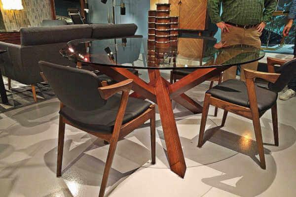walnut-finish-glass-top-table